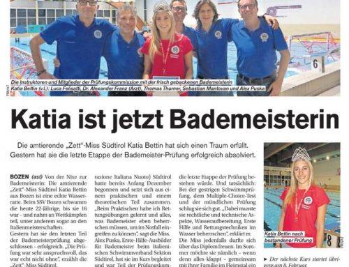Unsere Miss Südtirol ist jetzt Bademeisterin