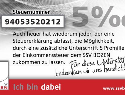 5×1000 für Sport in Bozen!